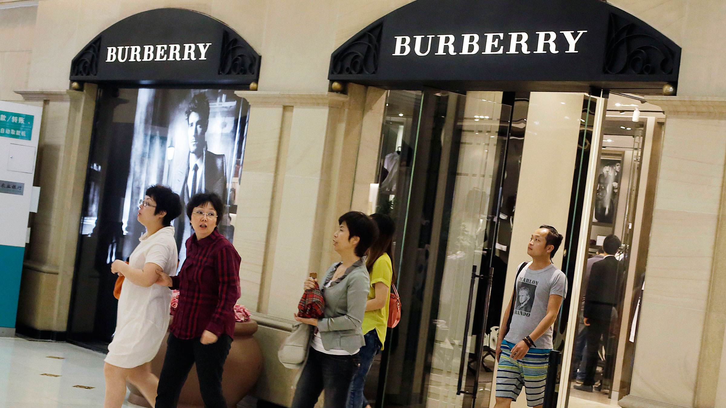 Burberry issued a profit warning based on lower Chinese gift giving.