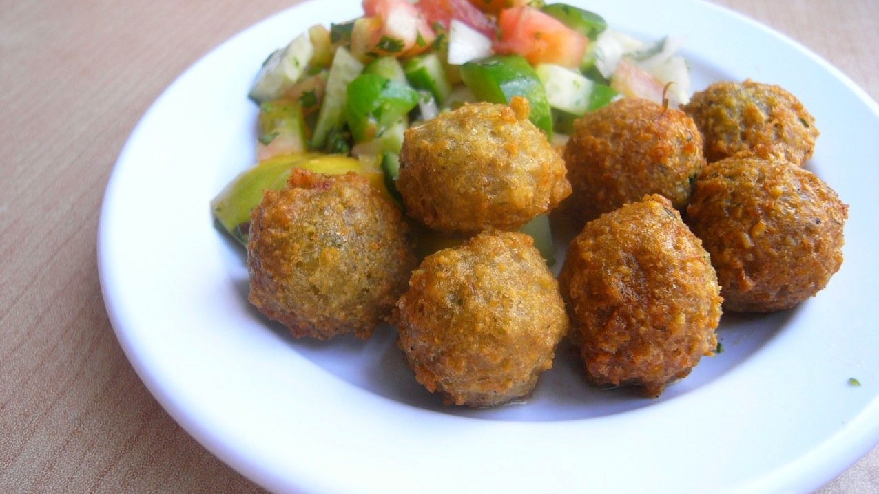 Taamia, similar to falafel, is a staple of Egyptian street food.