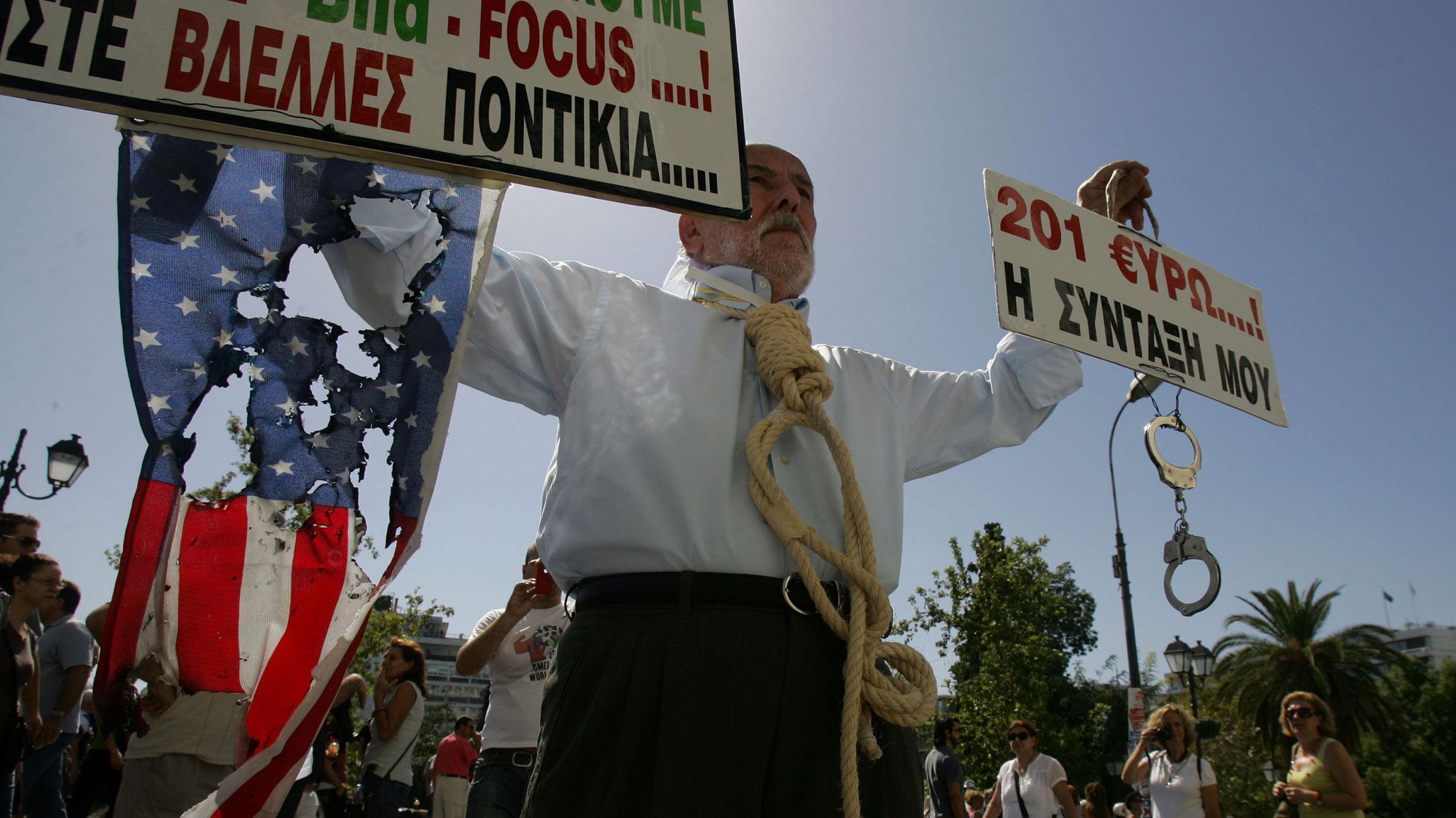 Greek Protest Flag 927