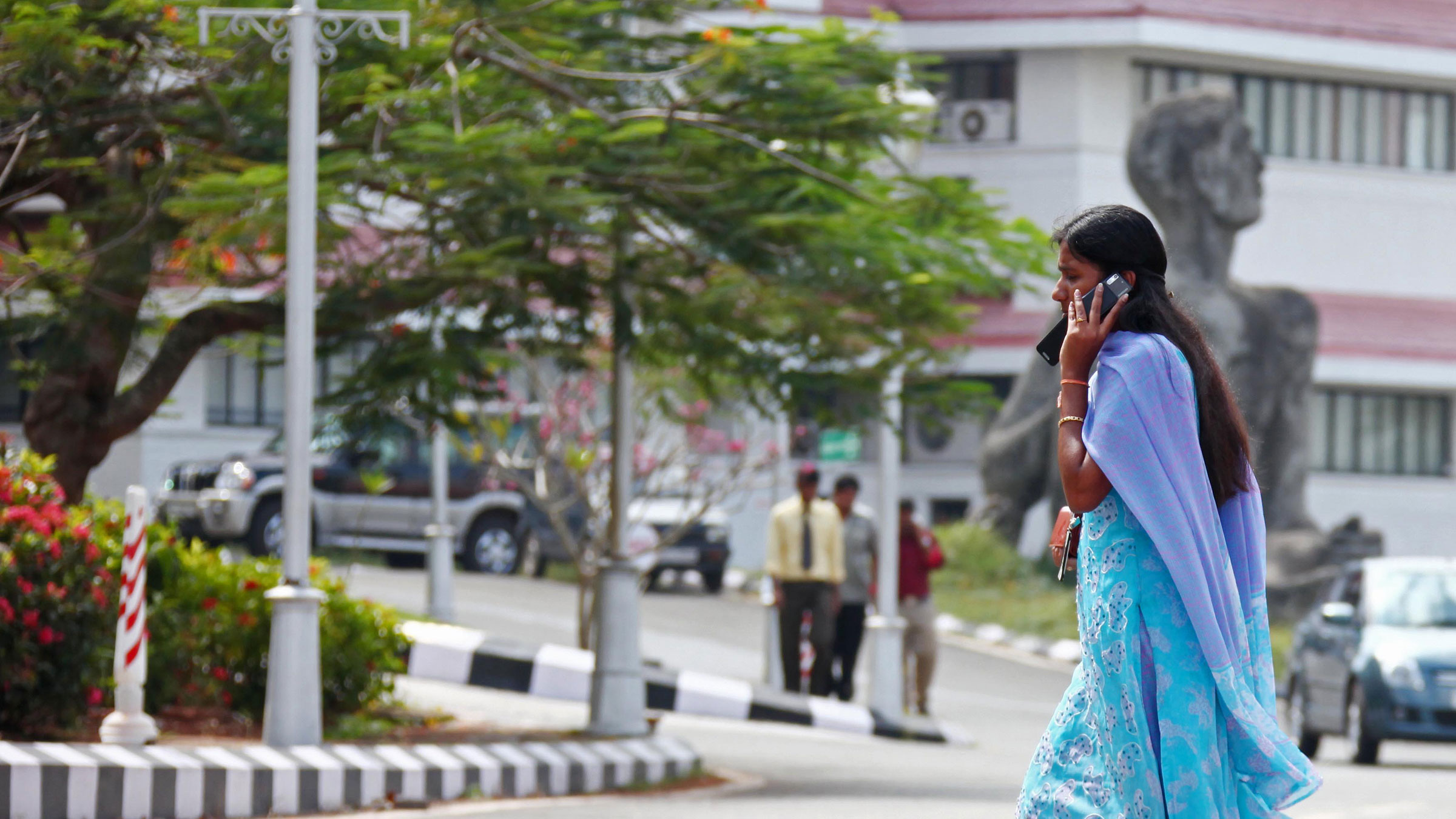 A smart move in India is embracing the not-so-smart phone.