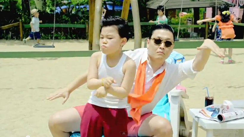 """Playground pompadour helped launch """"Gangnam Style"""" into the Guinness Book  of World Records"""