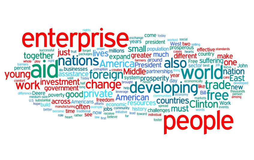Romney word cloud (red)