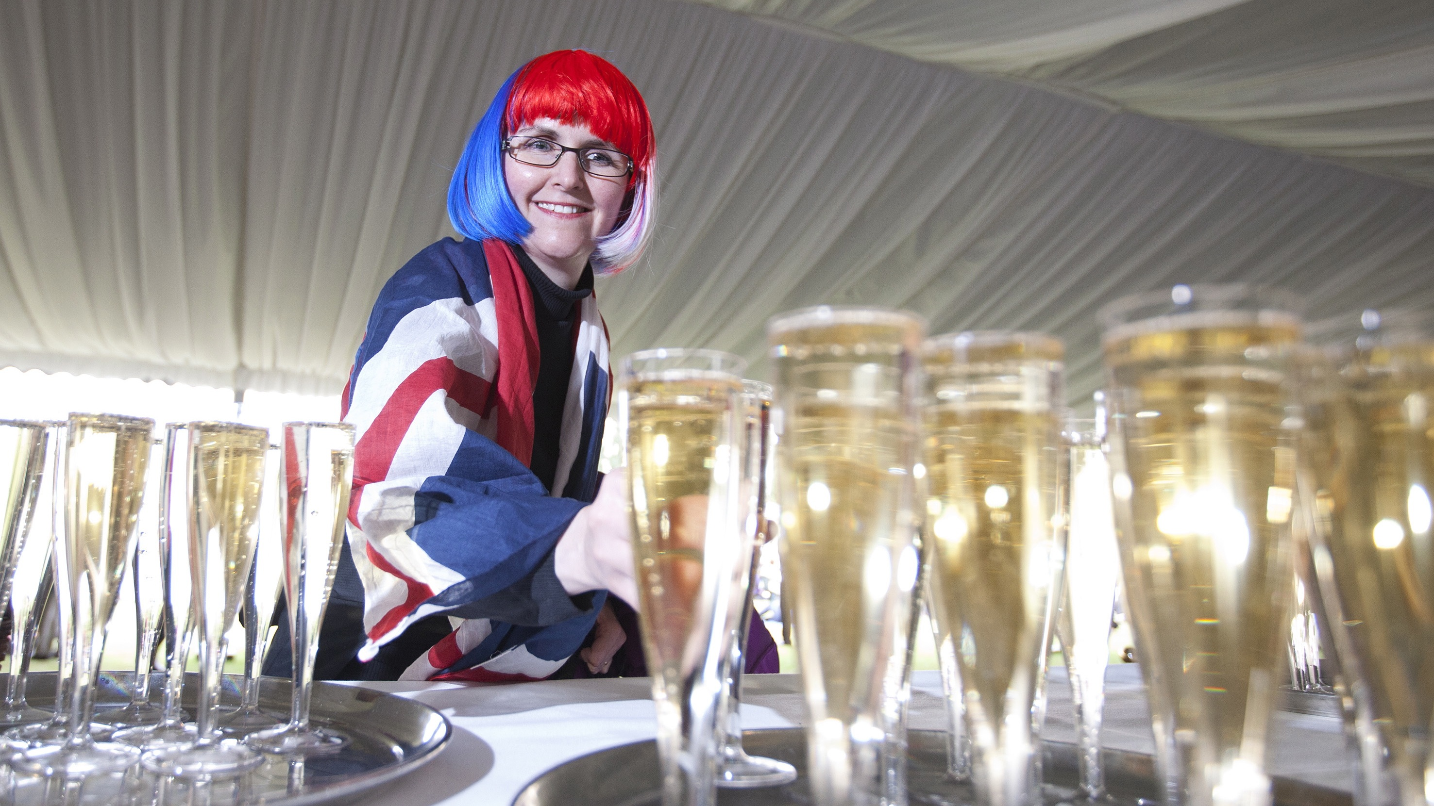 A Queen's Jubilee enthusiast. Events like the Jubilee and the Royal Wedding have increased interest in English bubbly.