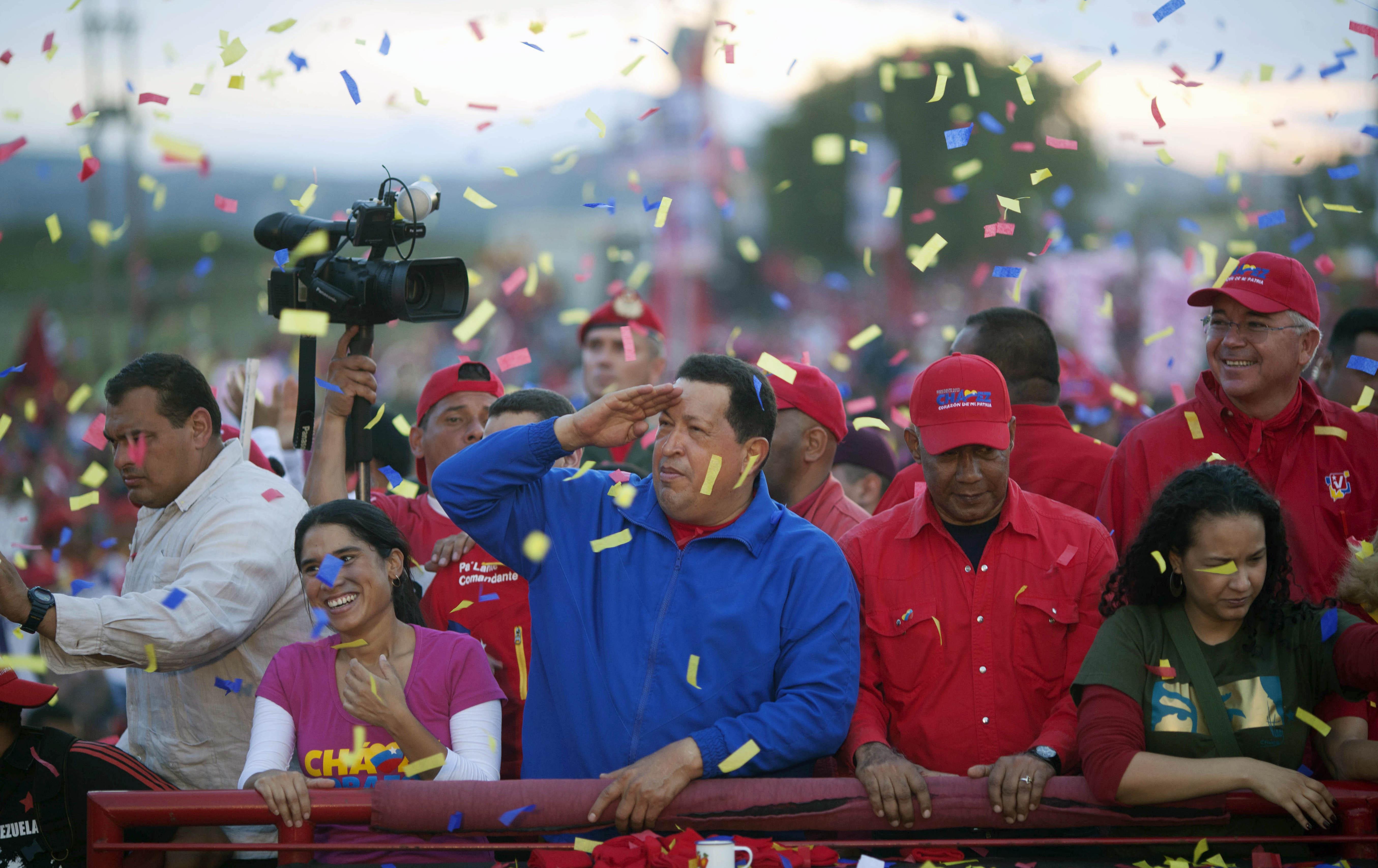 Hugo Chavez looks to the future