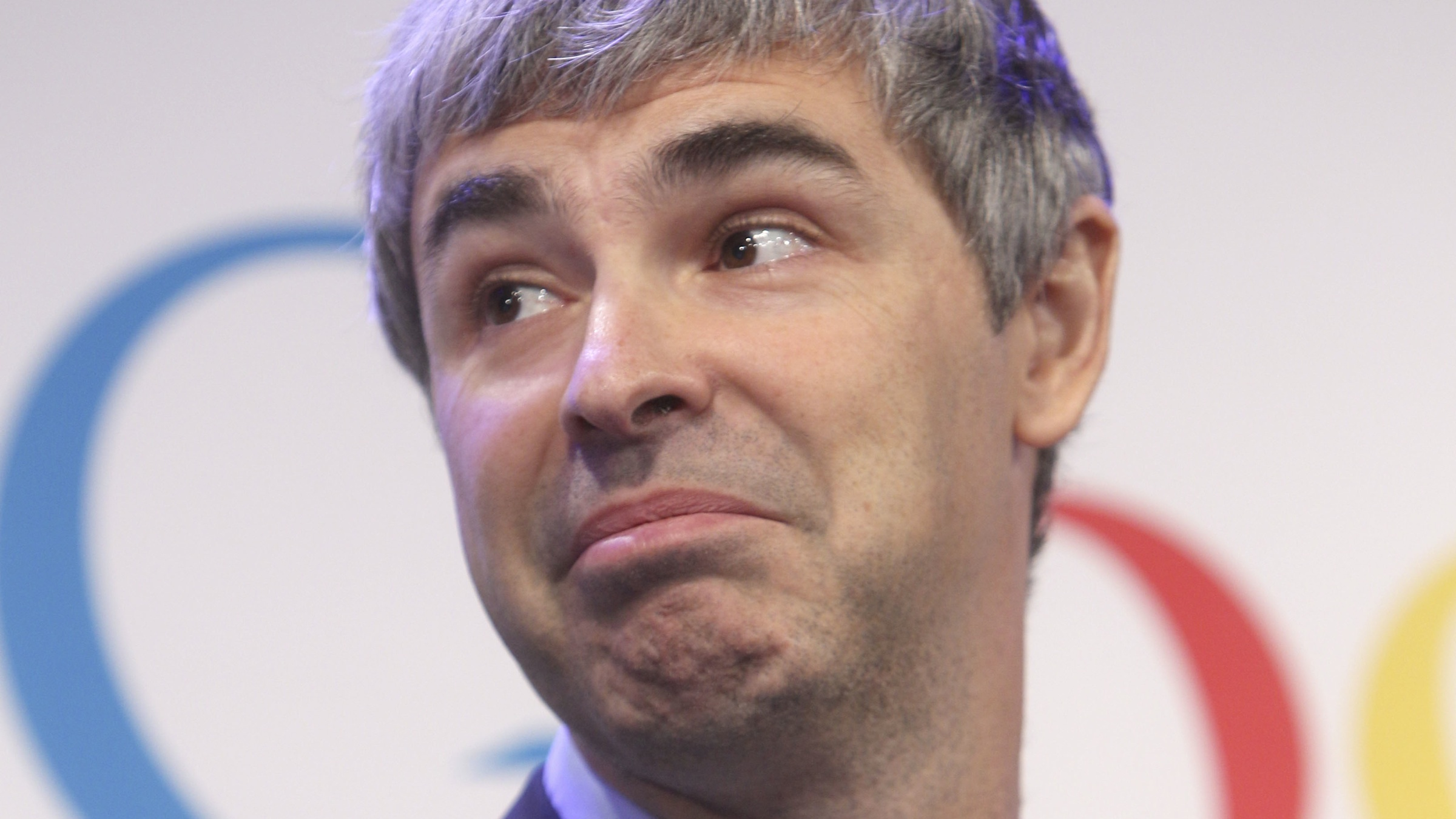 Google CEO Larry Page takes questions from the audience during a news conference at the Google offices in New York, Monday, May 21, 2012.  Google's New York City headquarters is set to become the temporary home of the city's new applied sciences campus.(AP Photo/Seth Wenig)