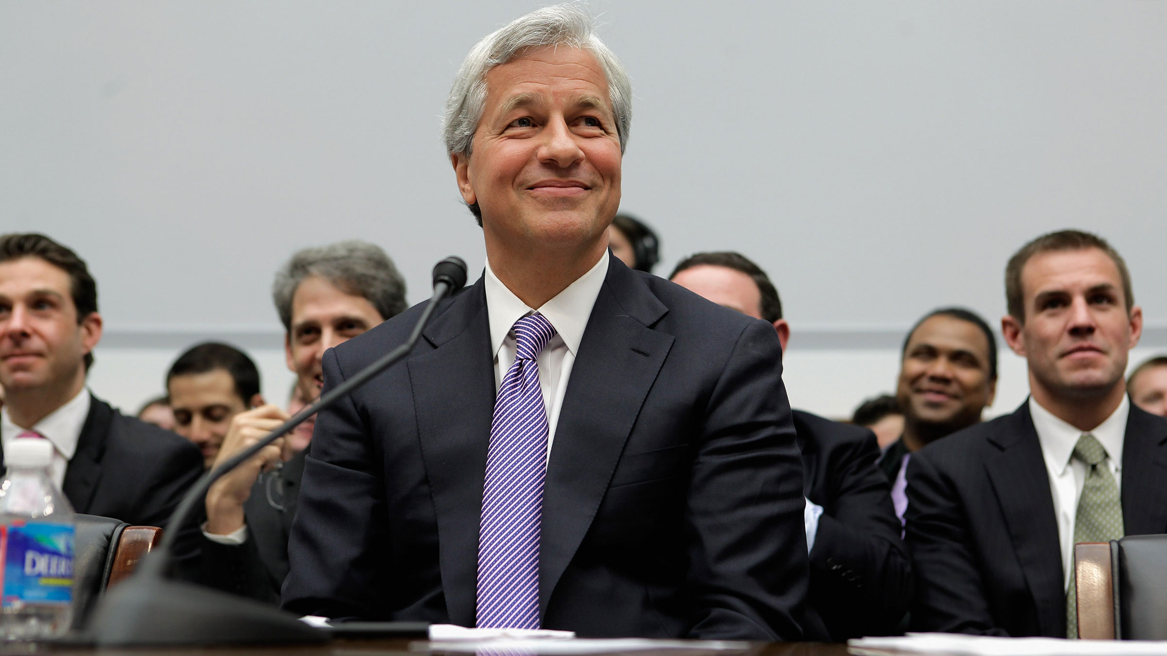 Jamie Dimon is all smiles