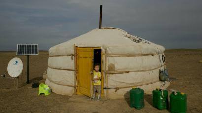 Yurt at the Oyu Tolgoi Mine