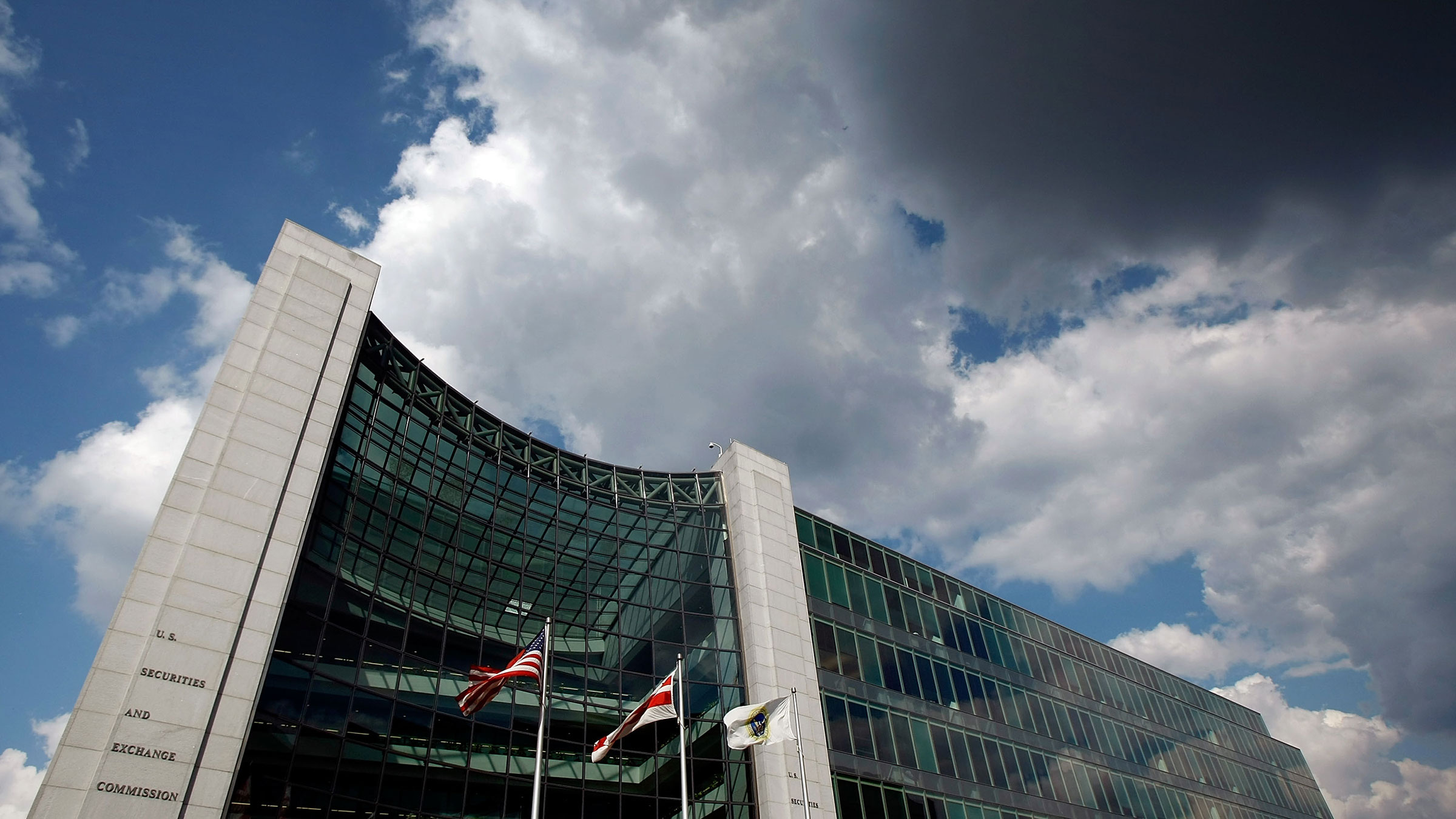 Clouds over the US Securities and Exchange Commission building