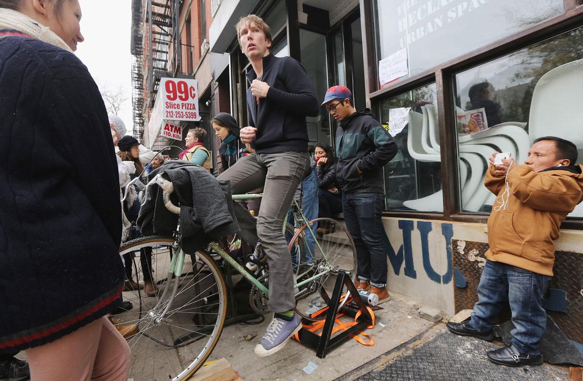 Bike Charging East Village 11022012