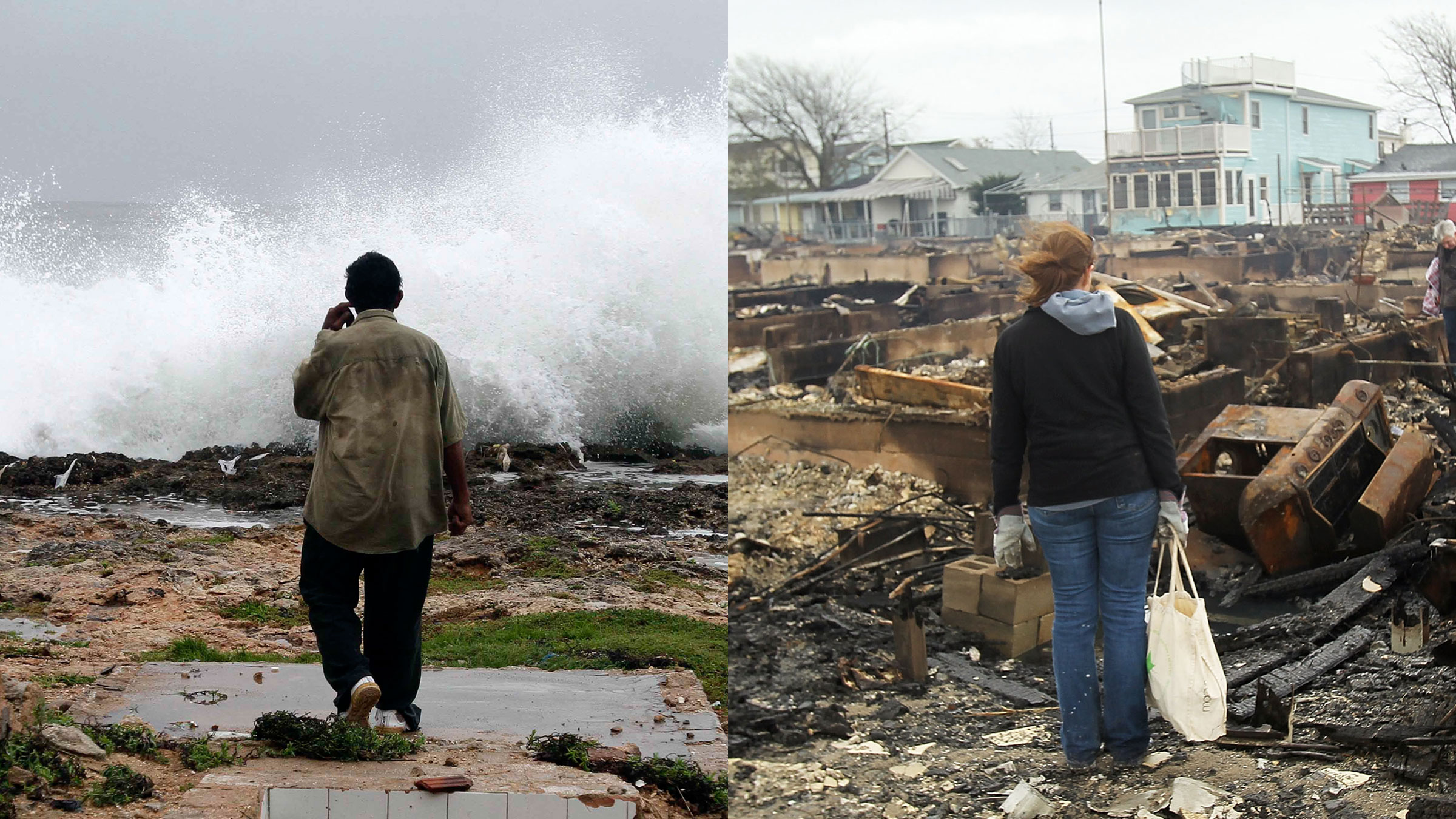 The scene in  Gibara, Cuba and Breezy Point, Queens, New York City