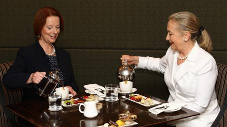 Tea for Two - Gillard and Clinton