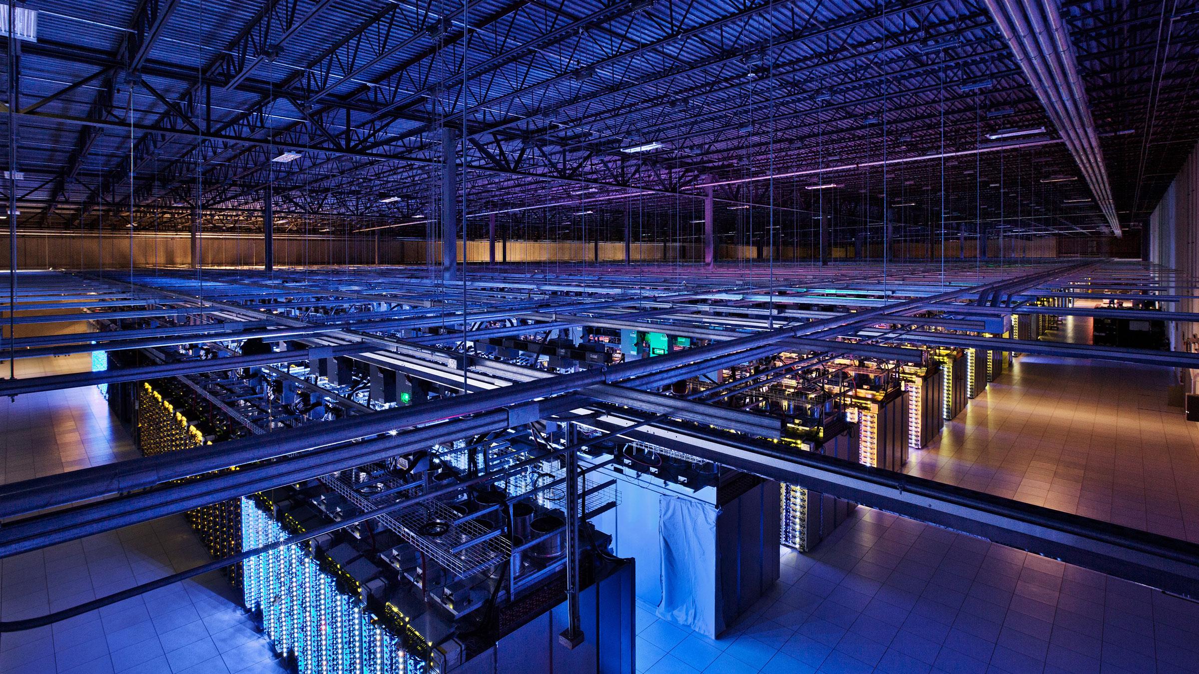 Google Data Center Blue