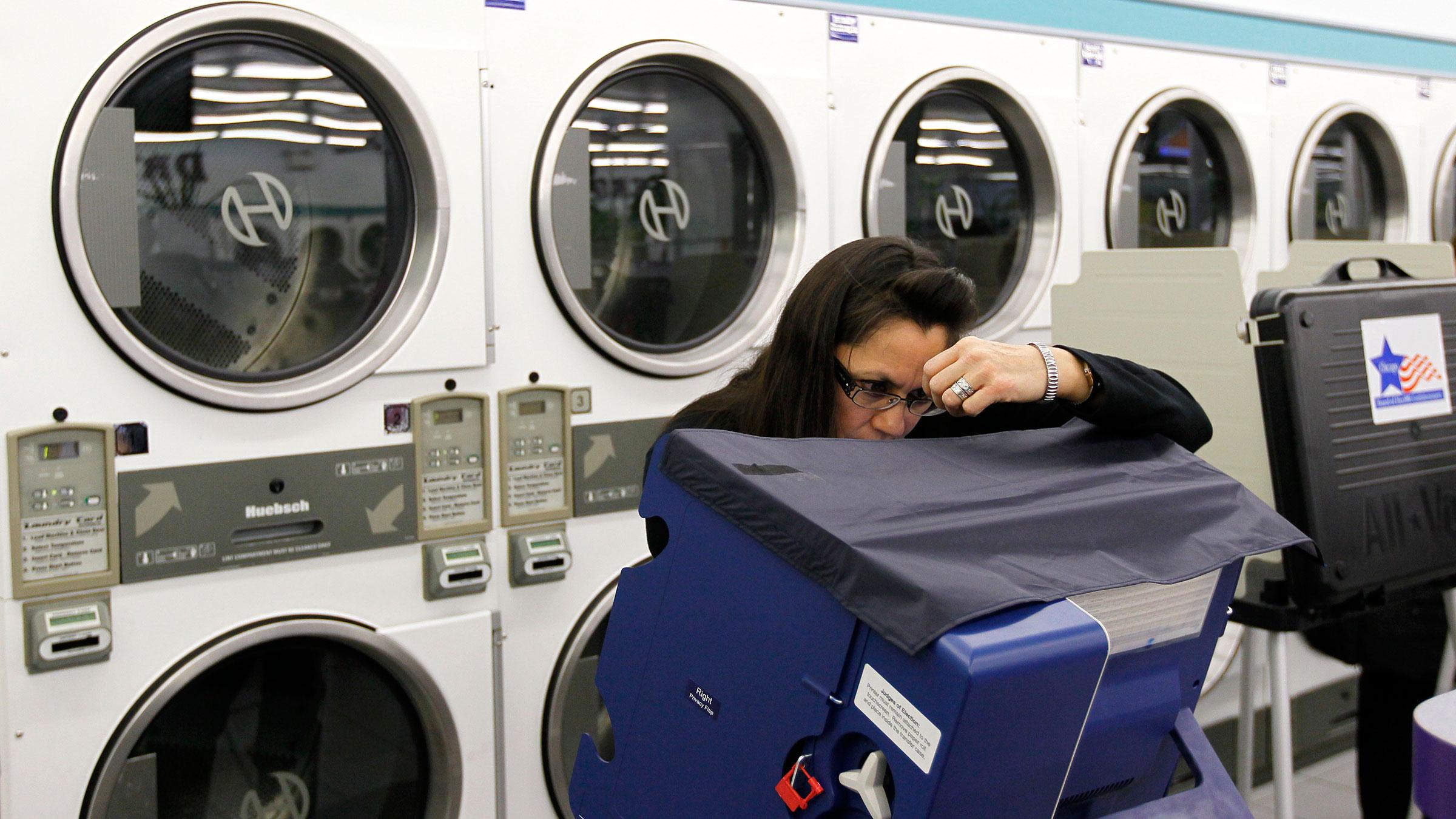 Laundromat voting