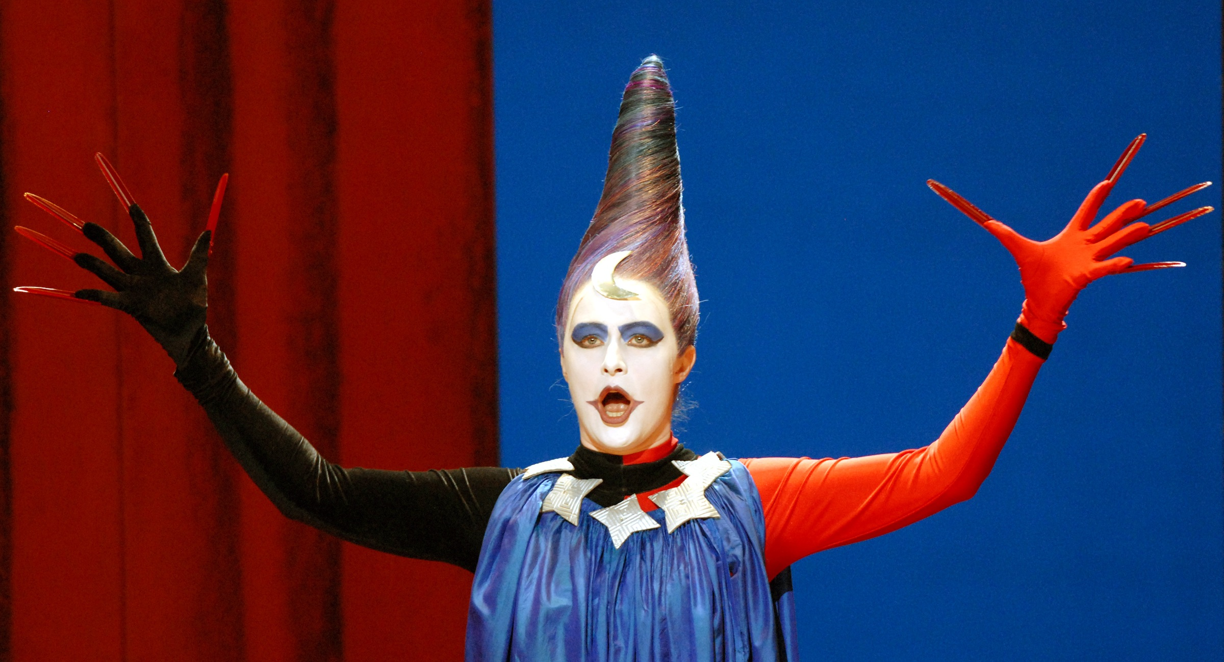 """Agnete Munk Rasmussen from Denmark performs as Queen of the Night during a rehearsal for the opera """"Die Zauberfloete"""" (The Magic Flute) by Wolfgang Amadeus Mozart at the Saxony state opera, the Semper Opera, in Dresden, Germany, Tuesday, May 30, 2006. The opera will have its premiere on Saturday June 3, 2006. (AP Photo/Matthias Rietschel)"""