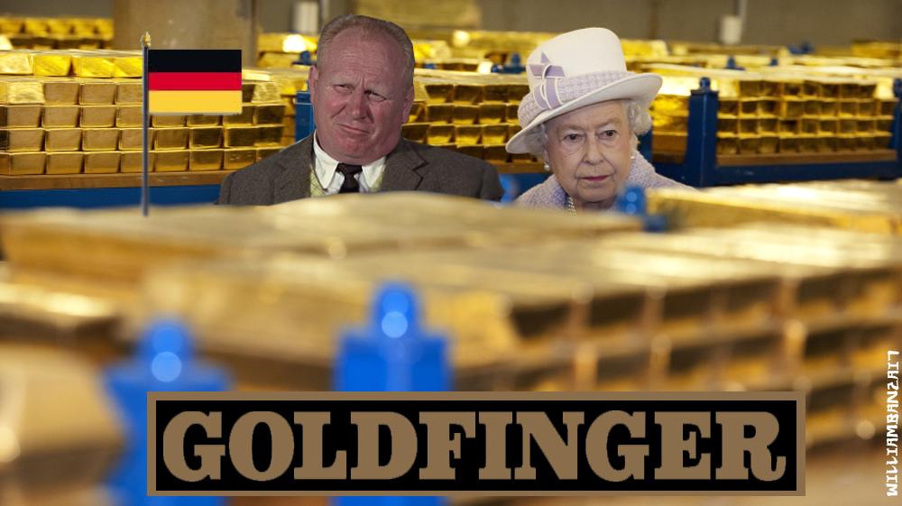 Queen Elizabeth gold meme