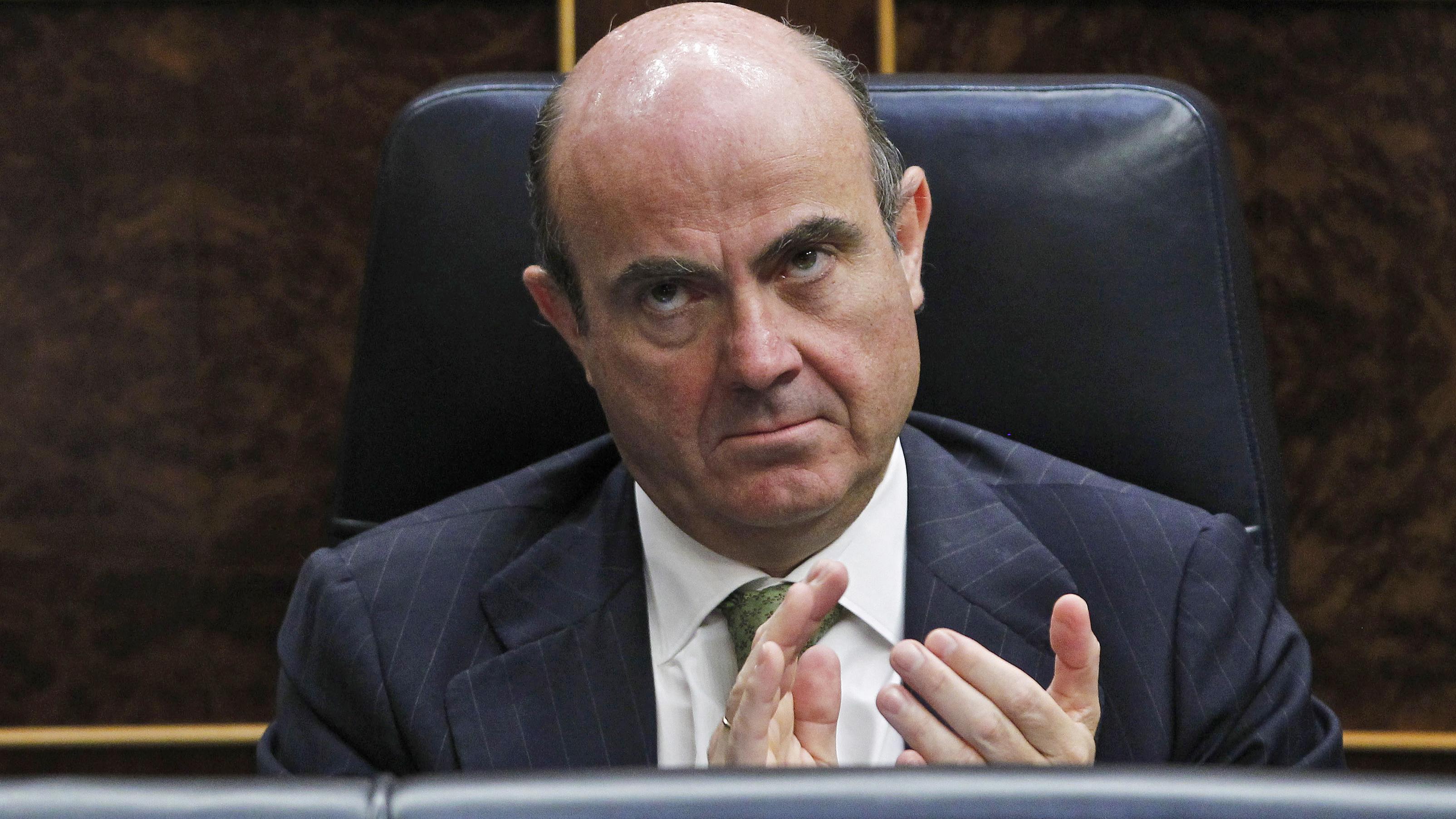 Spain Finance Minister Luis de Guindos