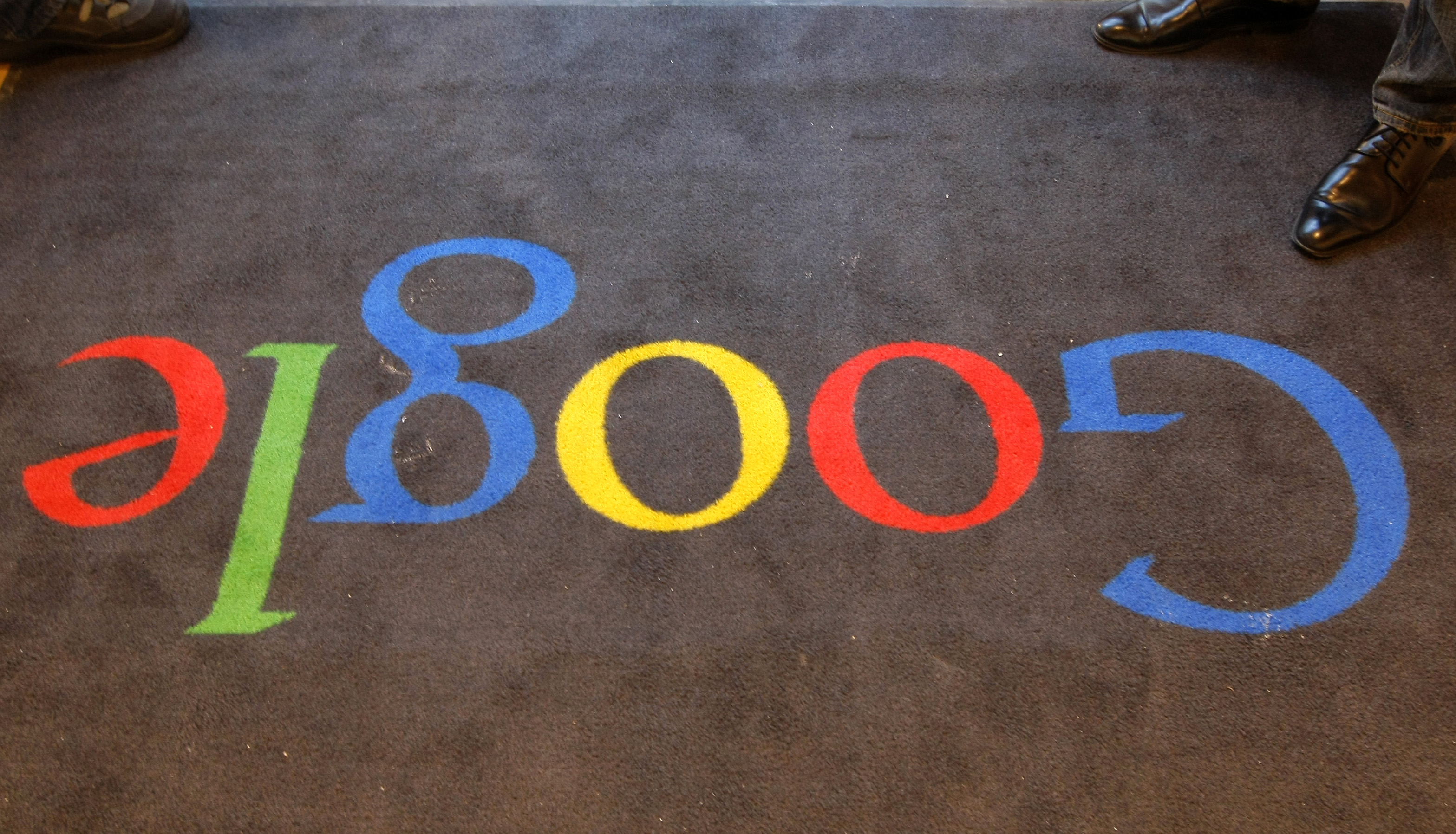 The carpet at Google's office in Paris