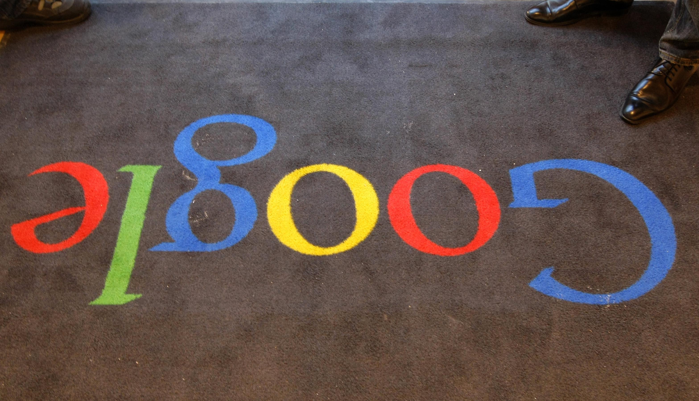 The carpet at Google's office in Paris