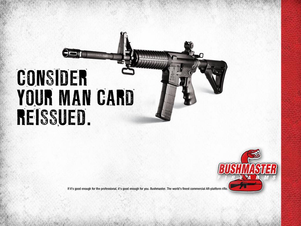 Bushmaster Man Card marketing campaign