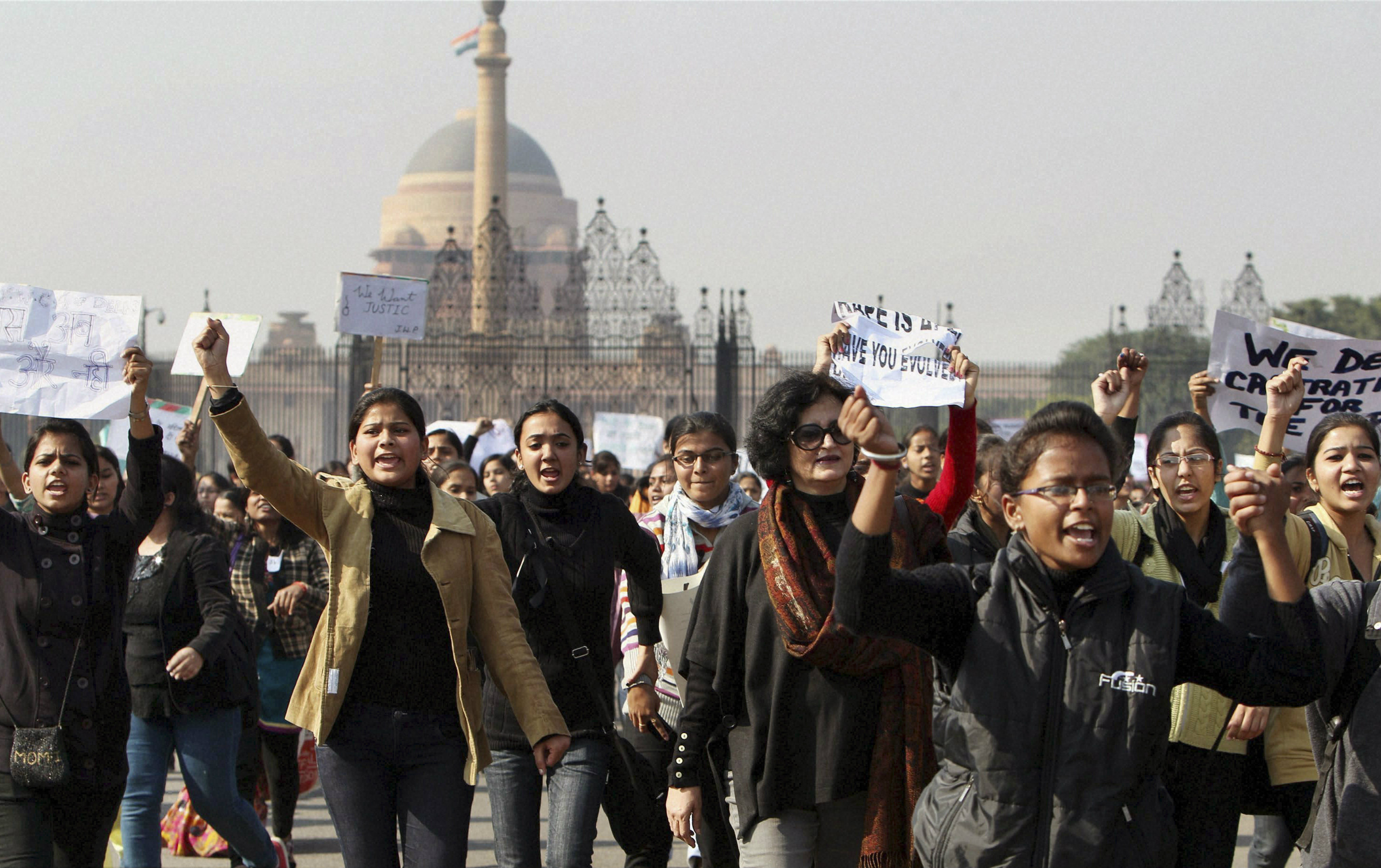 There have been protests every day in India's capital since a woman was gang-raped on a bus.