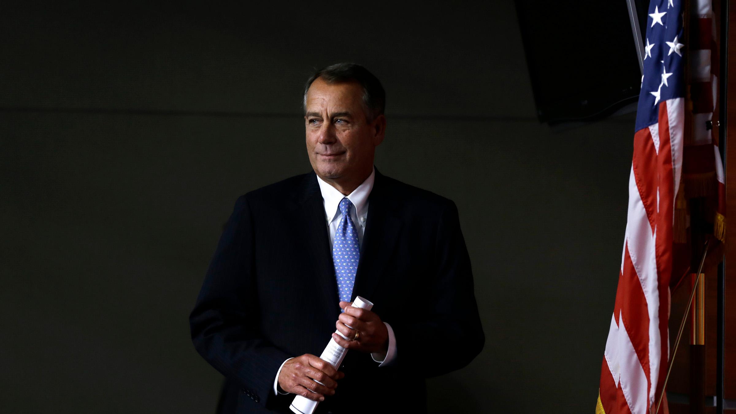 What now? House Speaker John Boehner is running out of options.