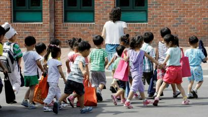 Follow the leader: Under a new social program, Korea would expand daycare to age 5.