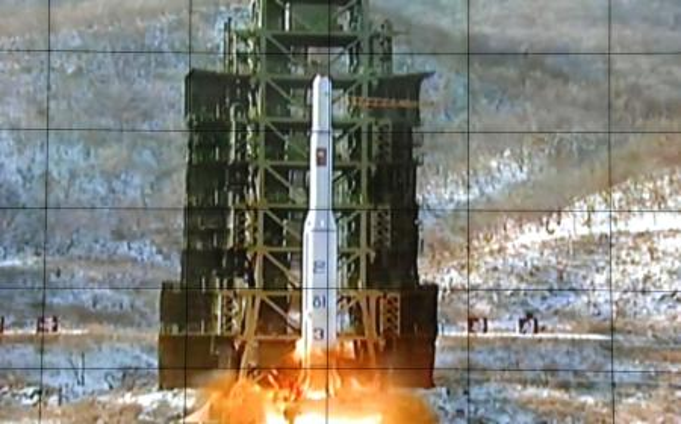North Korean missile, satellite