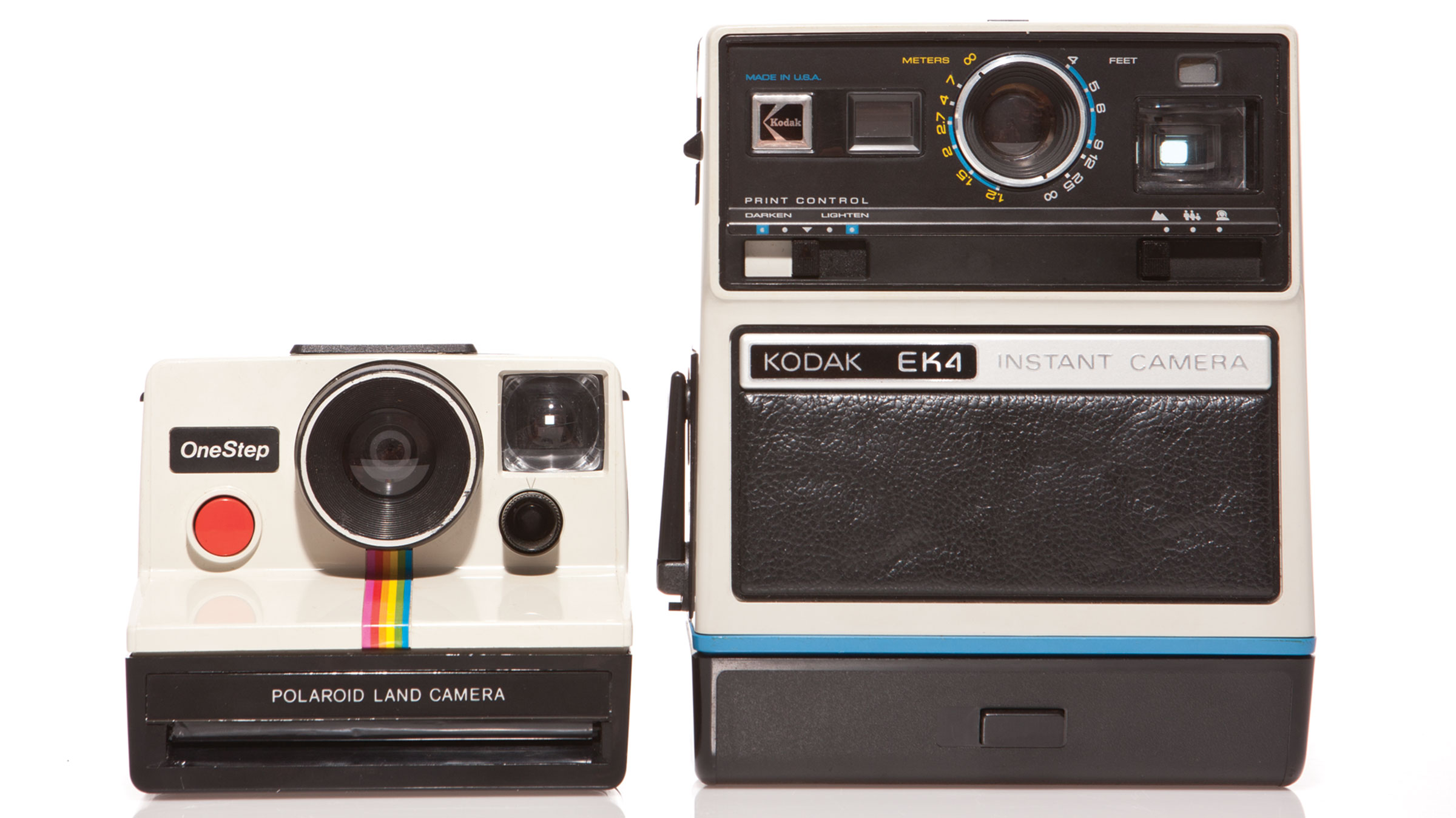 The competing camera lines from Polaroid and Kodak