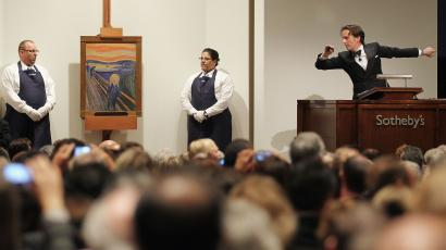 "Auctioning ""The Scream"" in Sotheby's in New York"