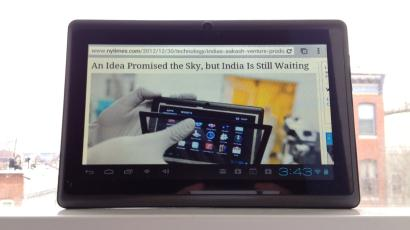 The Aakash 2, a $40 tablet from DataWind
