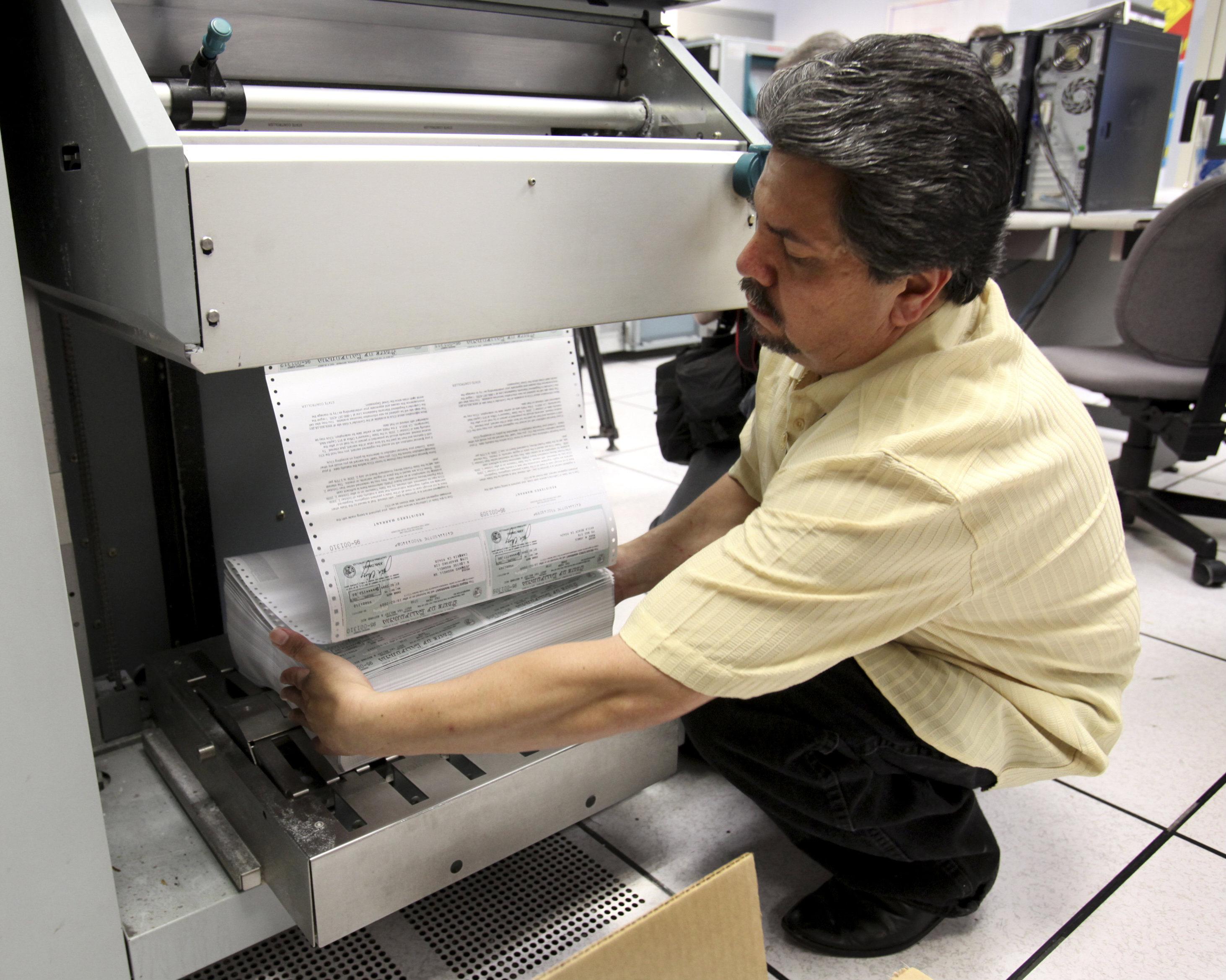 California prints scrip in 2009