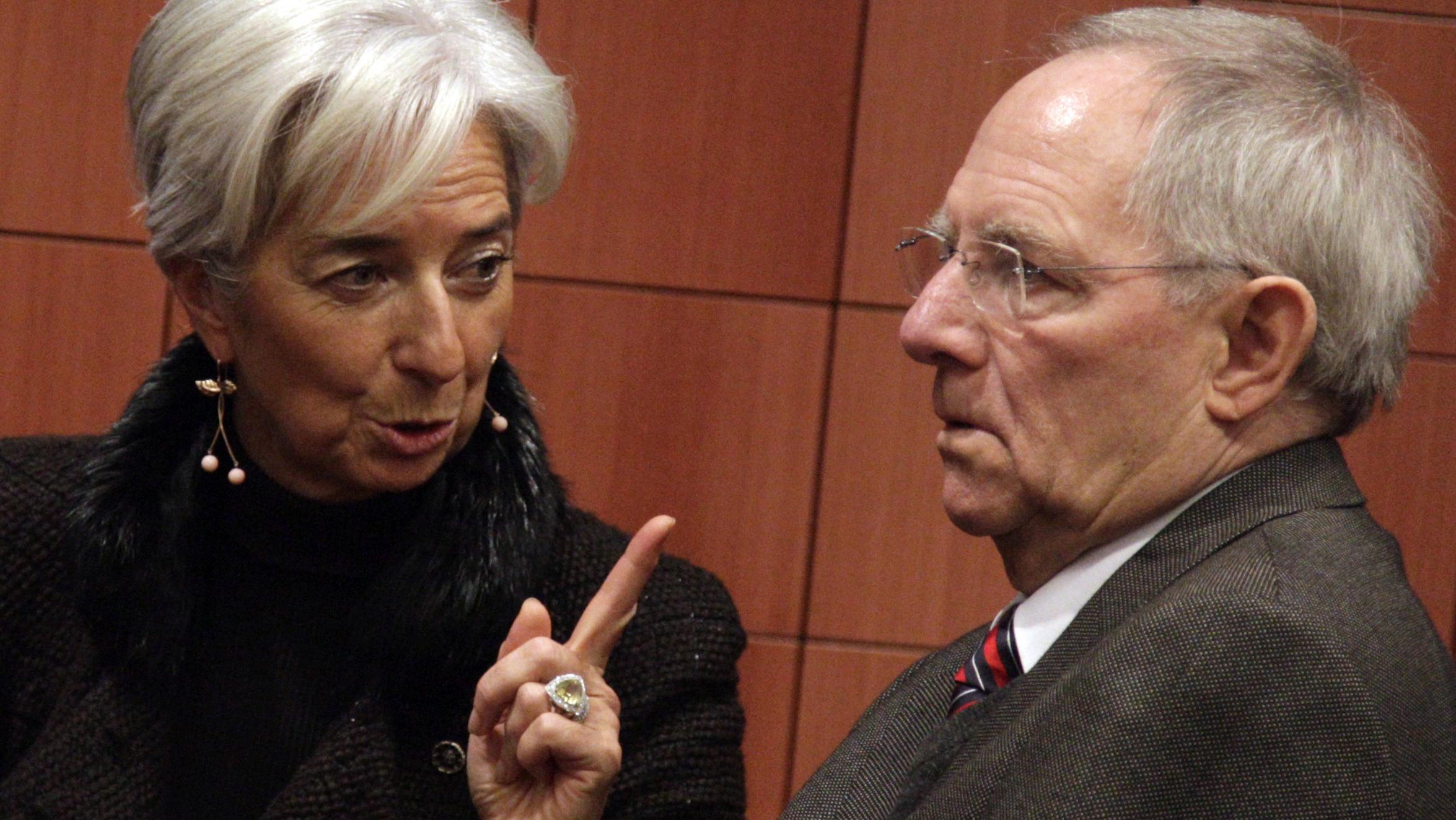 Schäuble lagarde greece bailout