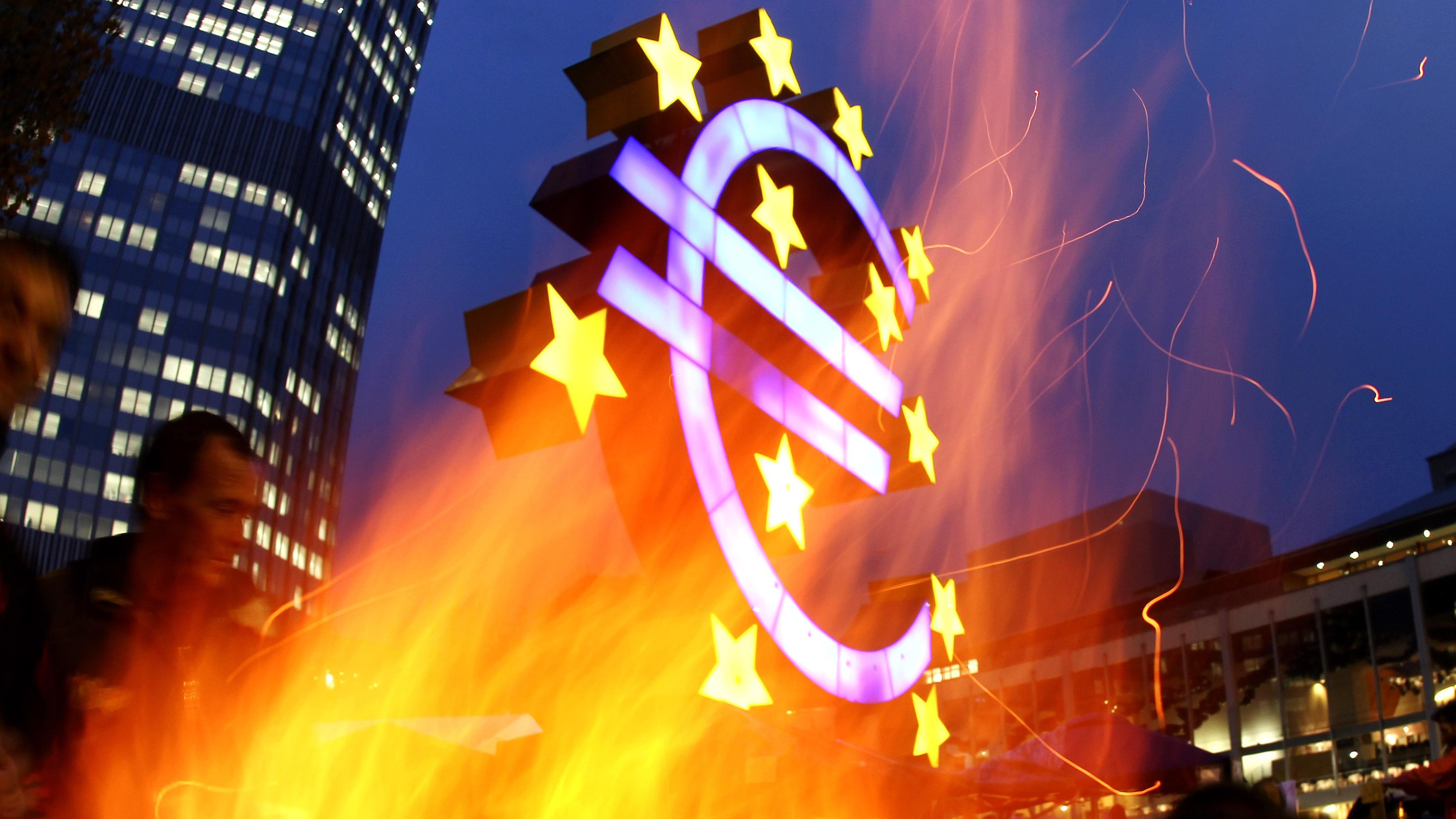 ECB euro burning