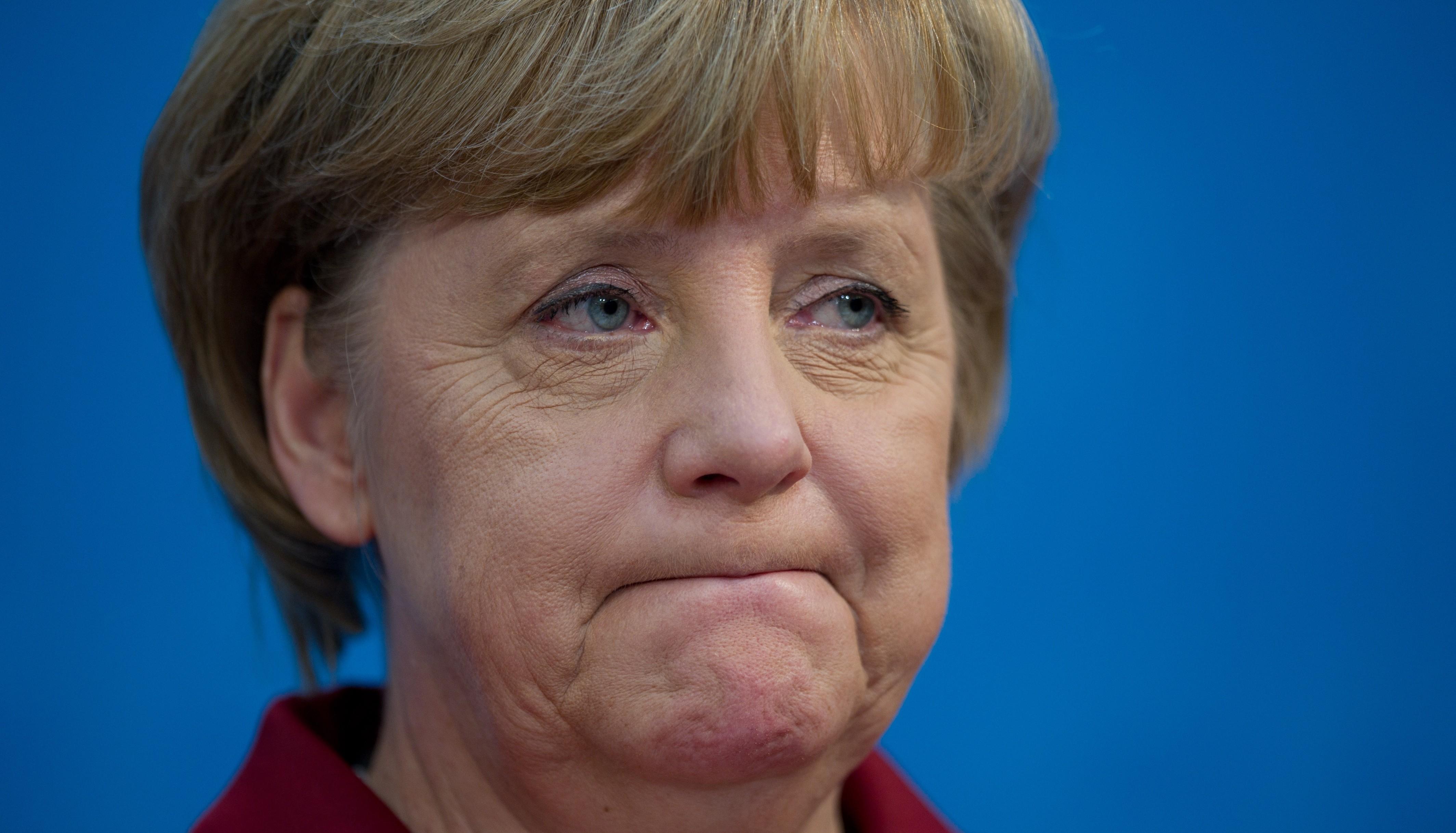 "Merkel said her party is ""somewhat sad."""