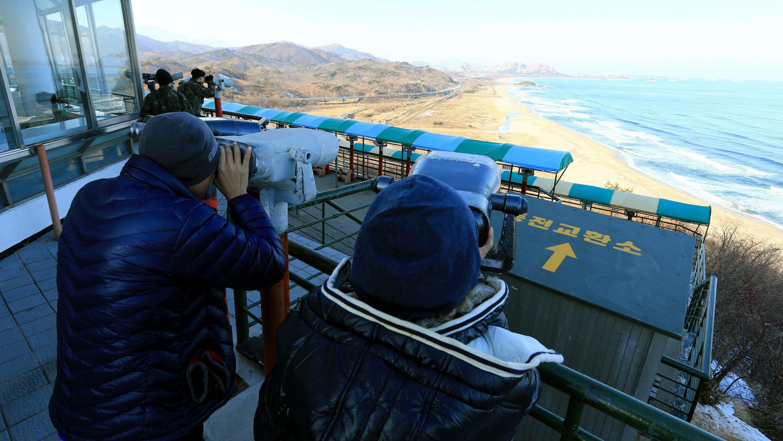 south koreans look to north korea