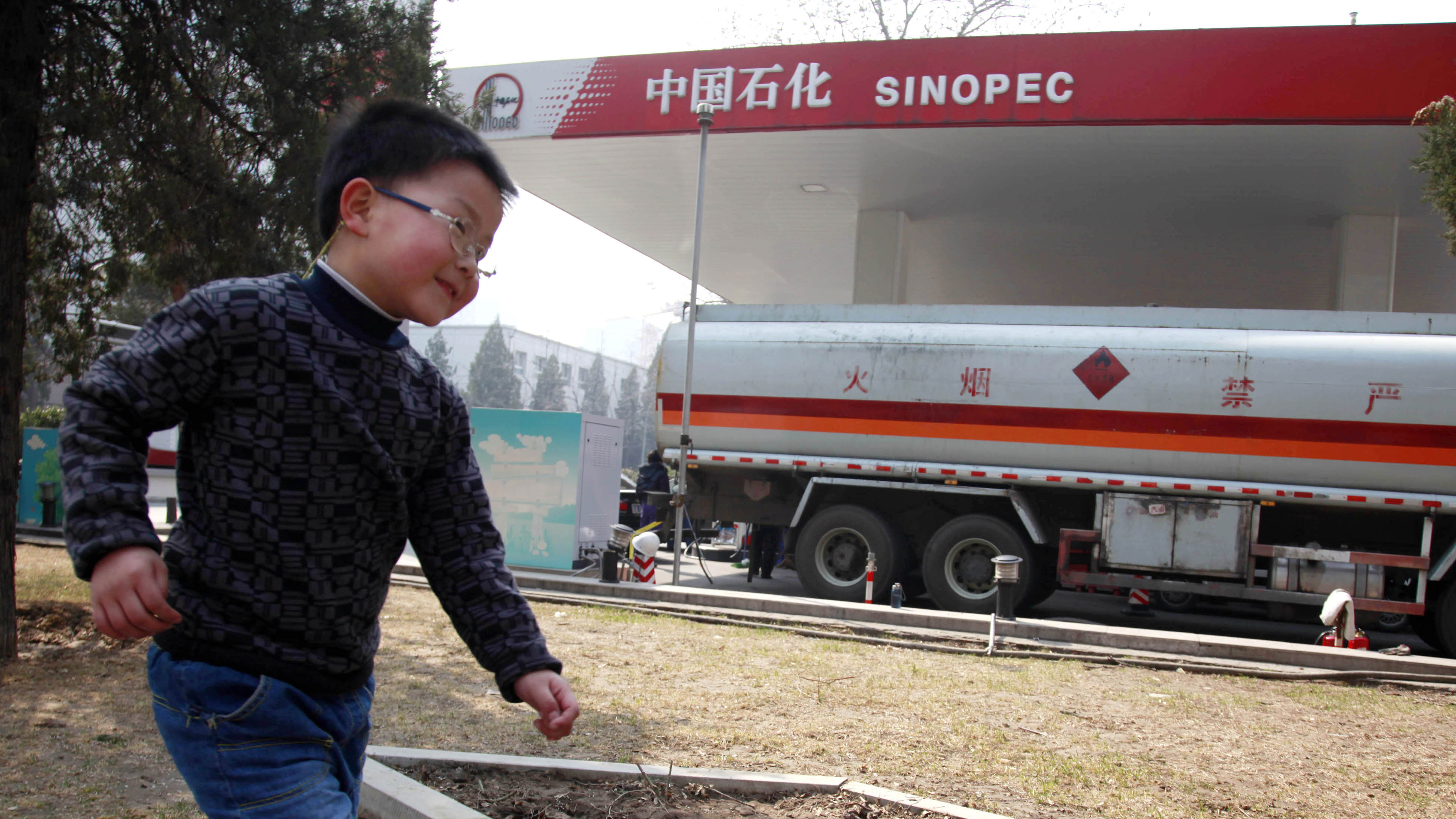 One of China's future asthmatics?