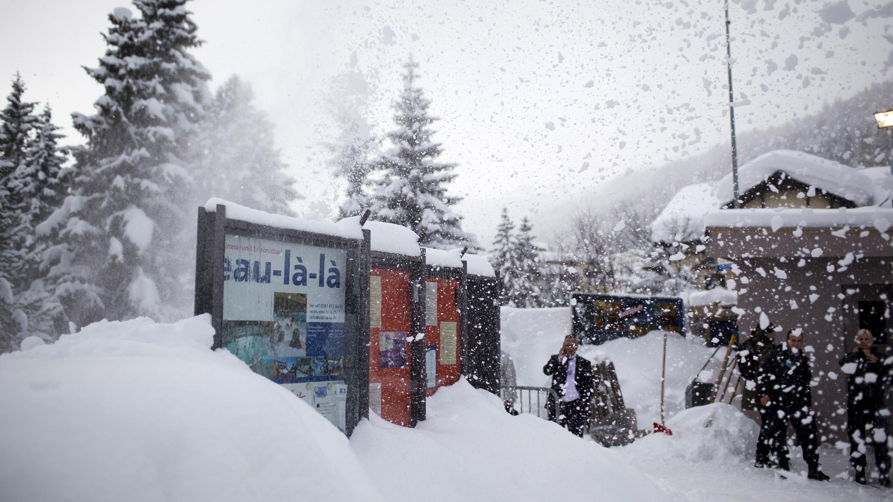 Snow in Davos, Switzerland