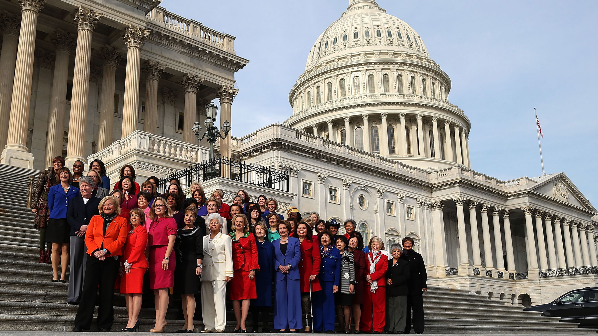 Jan. 3, 2013. The Democratic women of the United States House of Representatives. The 113th Congress includes the most female representatives ever.