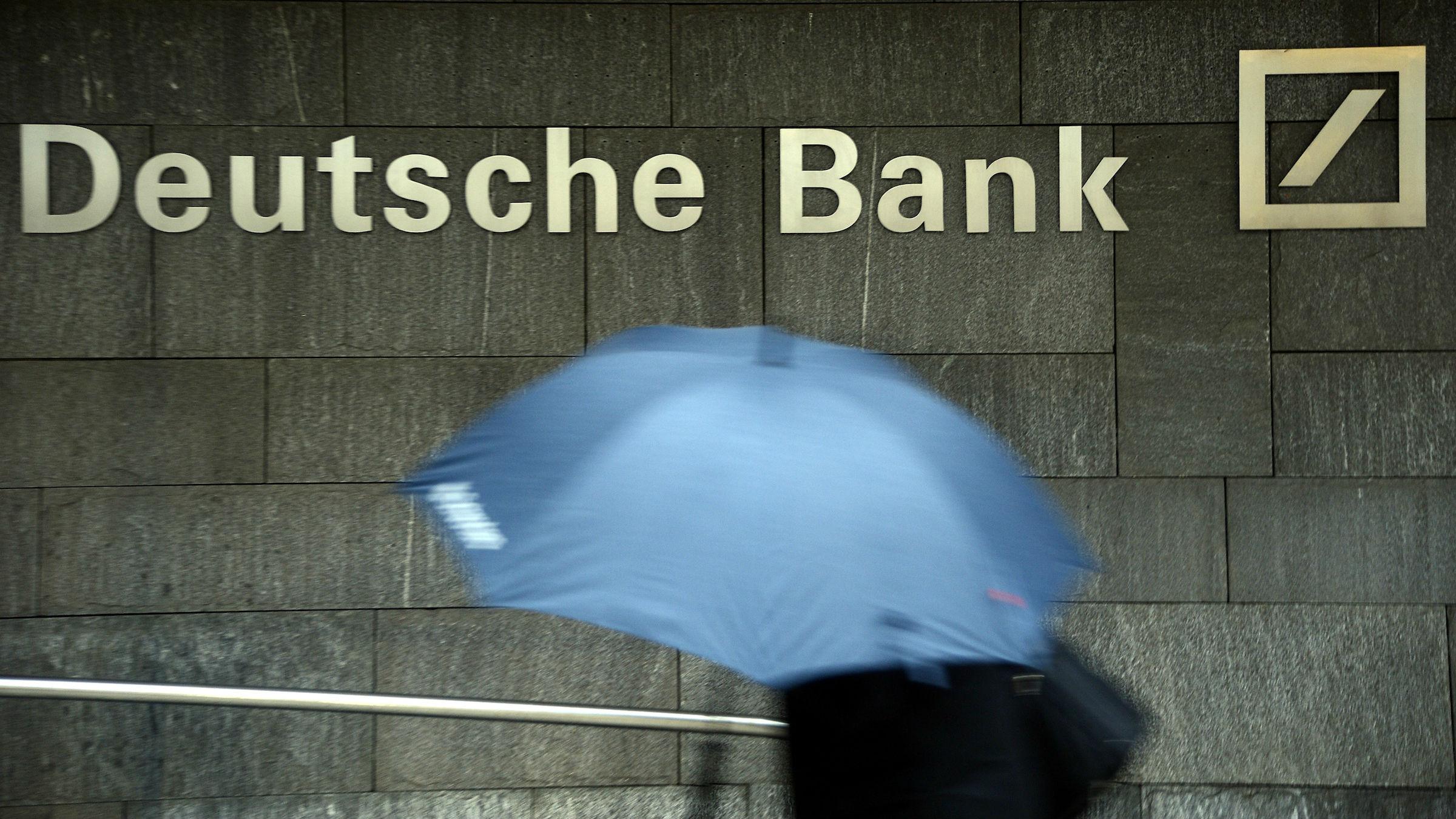 Deutsche Bank reported a fourth quarter loss of $3.5 billion.