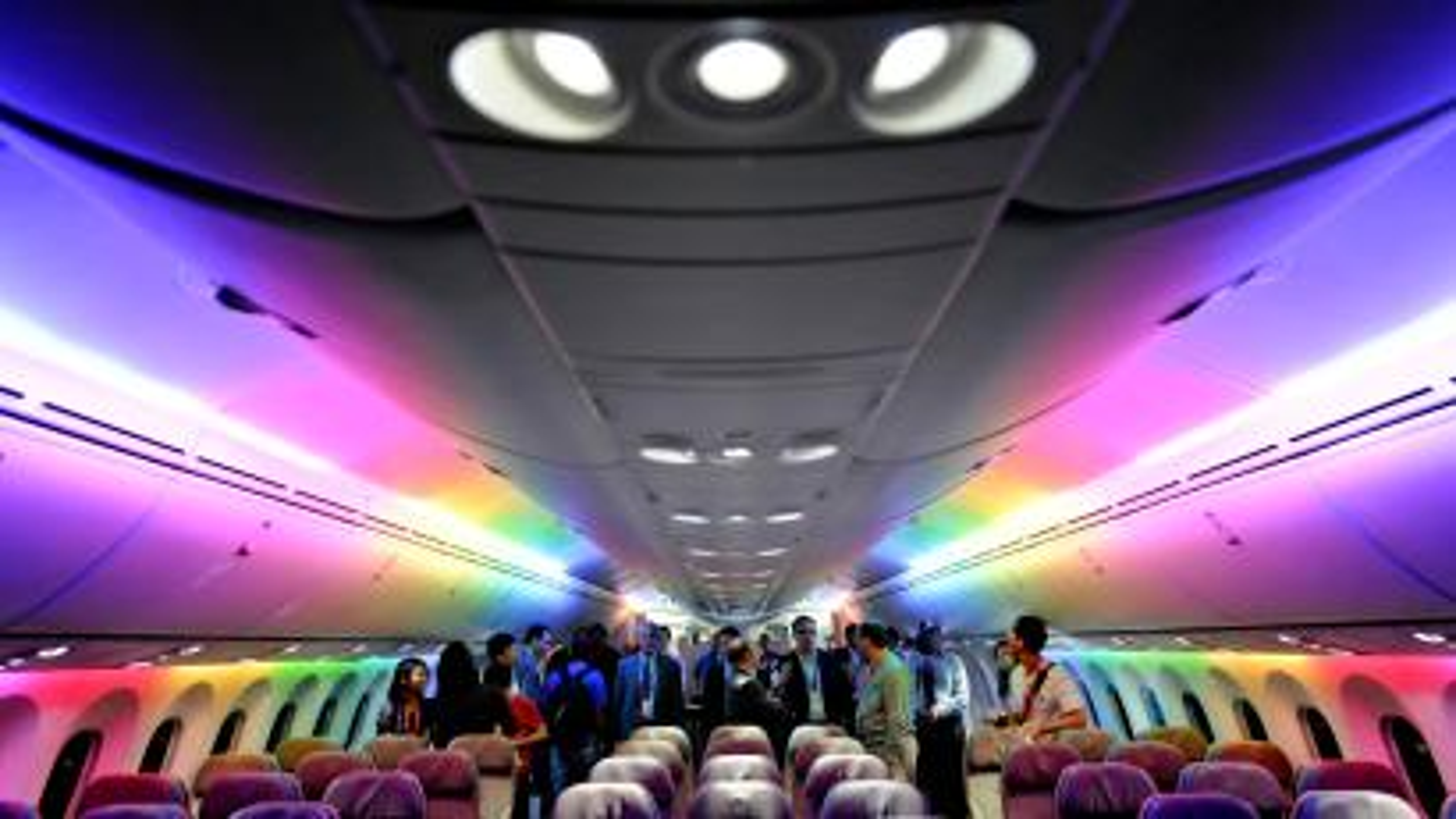Interior of a Dreamliner