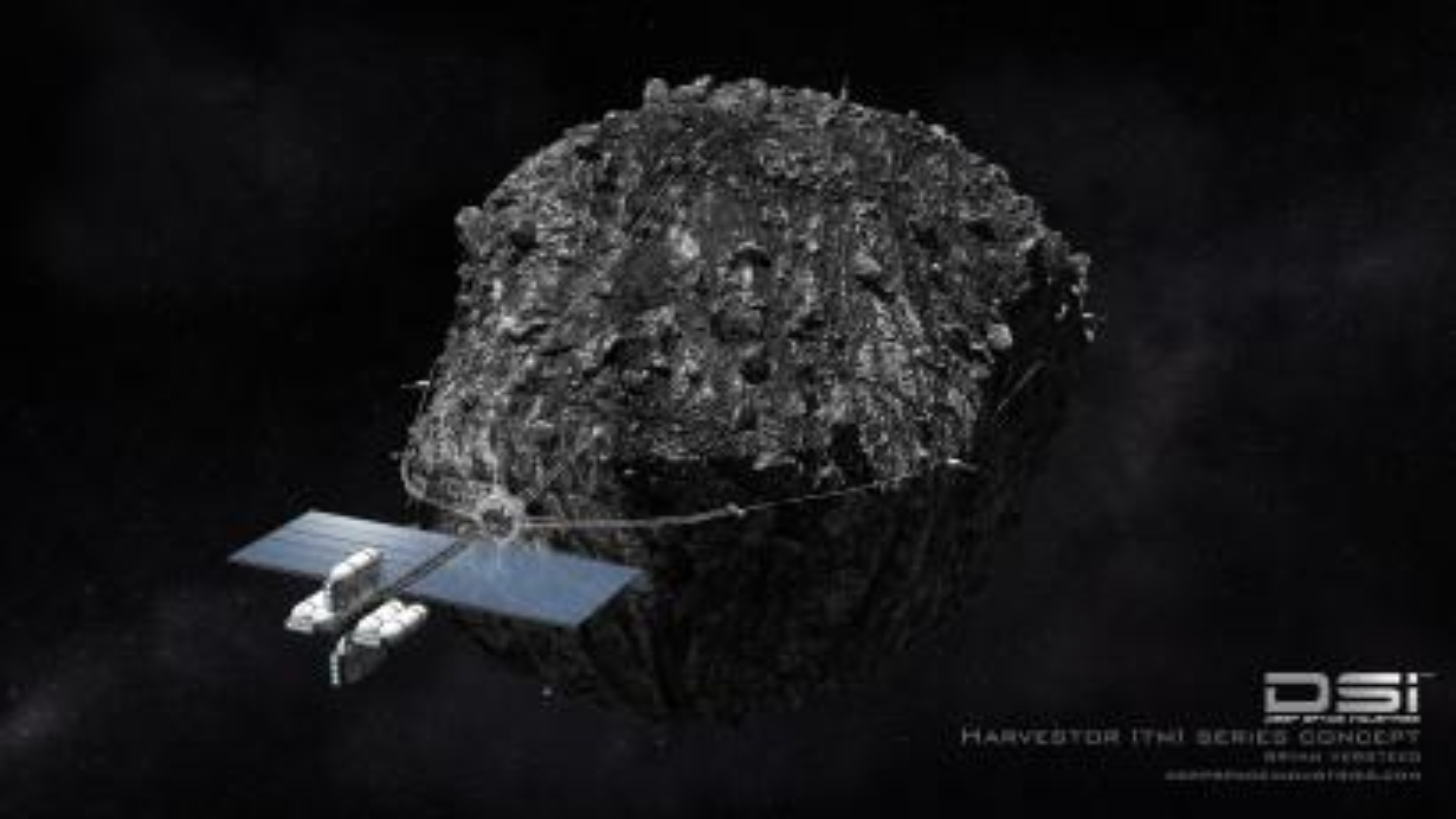 deep space industries asteroid mining harvester economics
