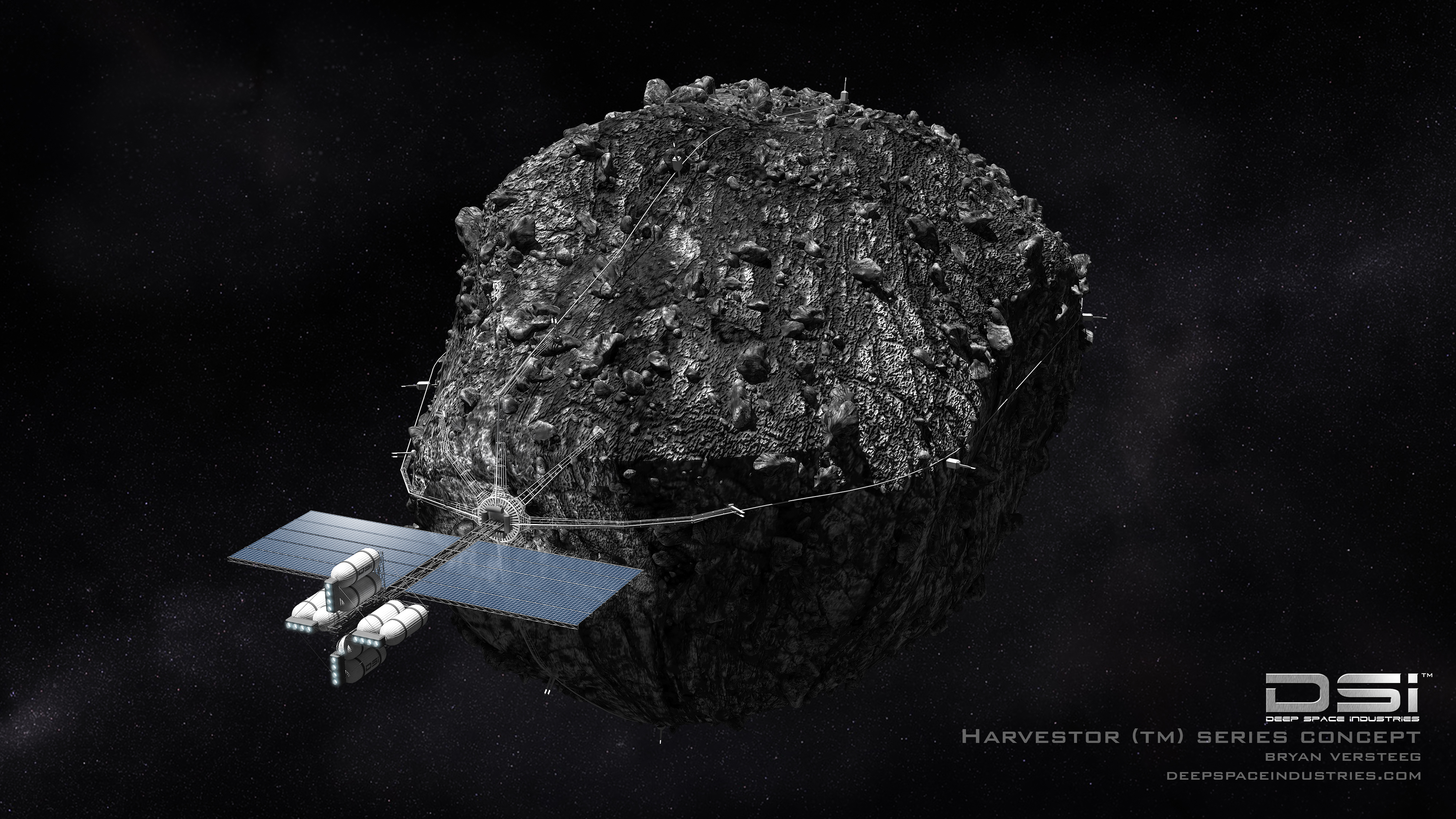 deep space industries asteroid mining harvester economics