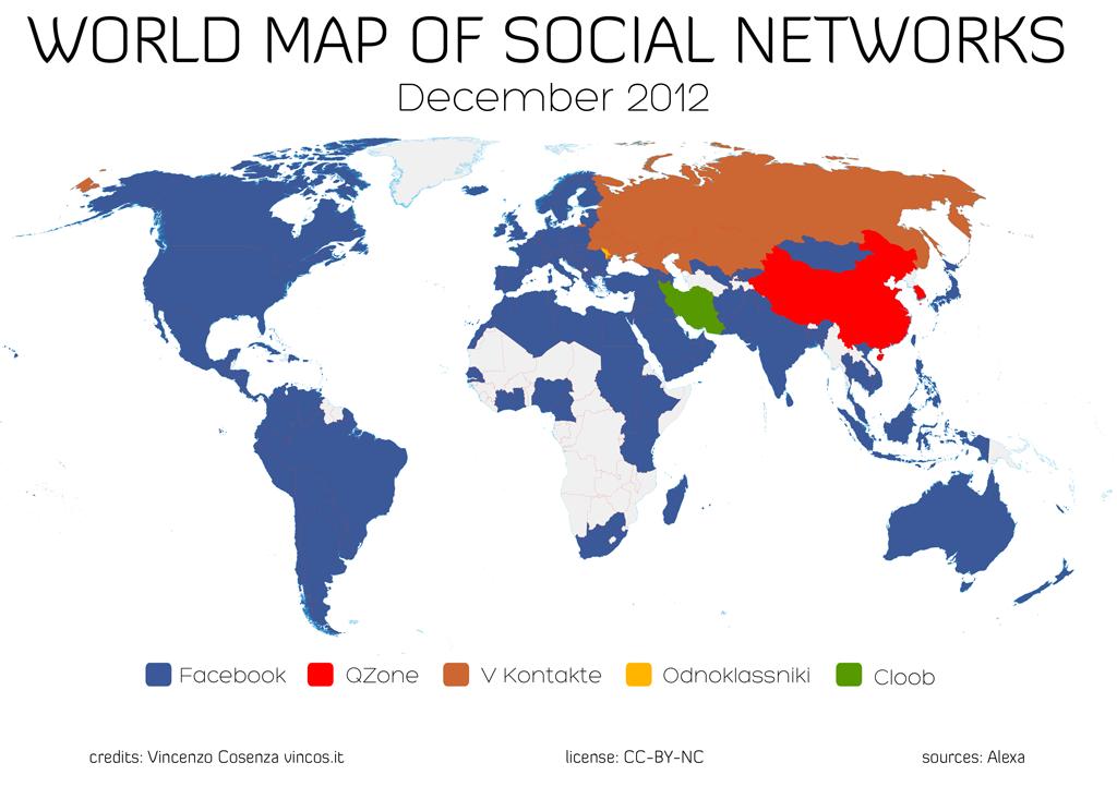 facebook world dominance map