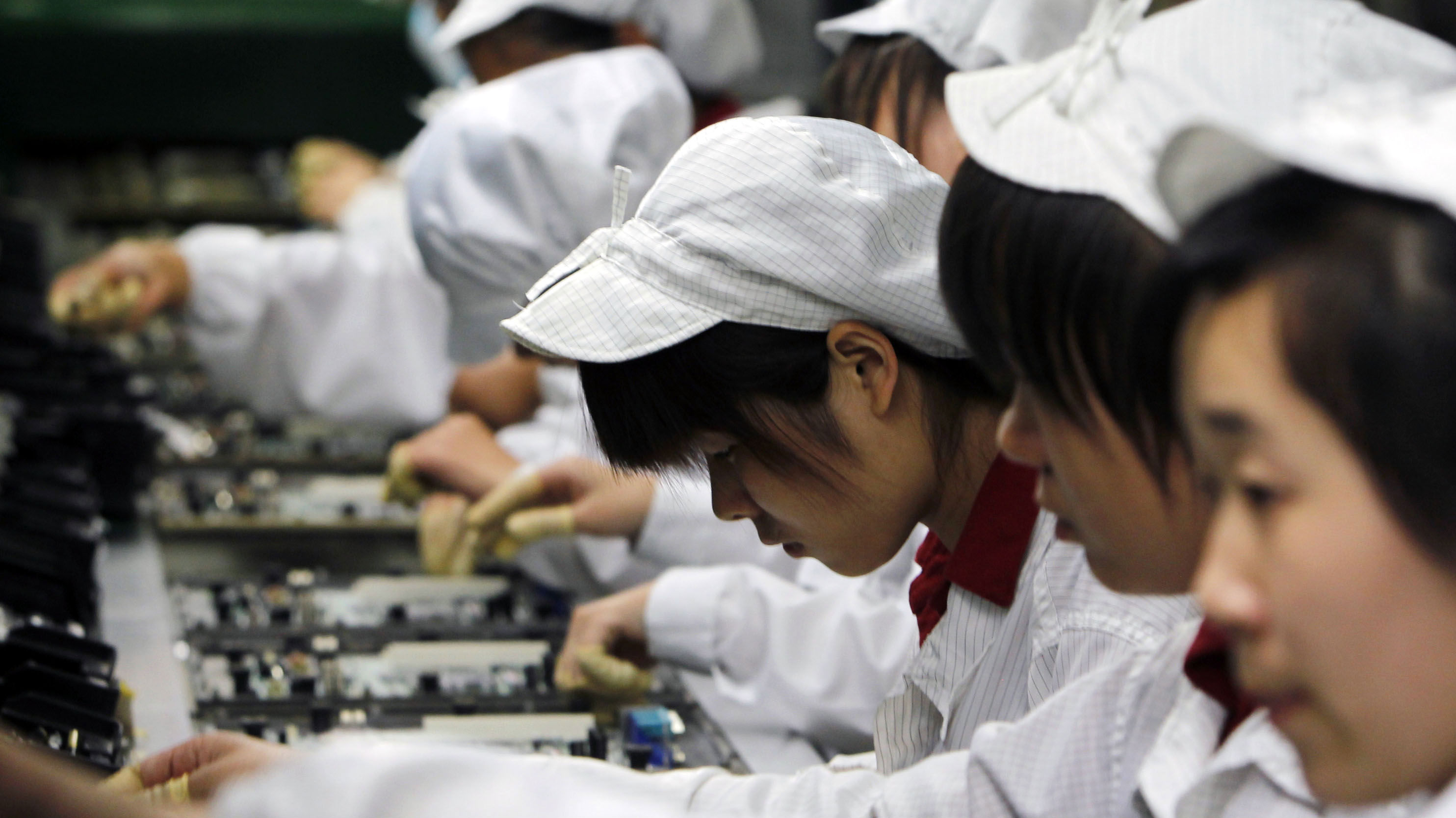 """Most MNCs stop their labor audits here: at the """"five-star"""" factory assembly stage."""