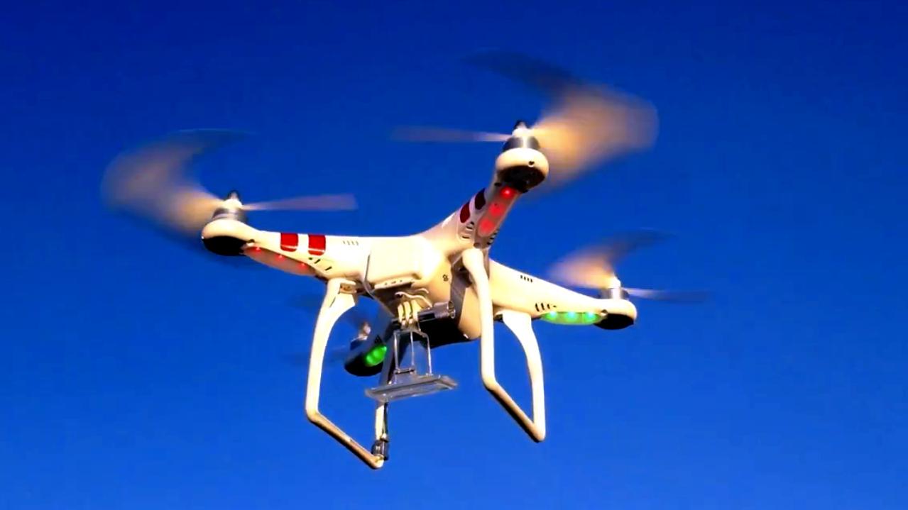 The Phantom UAV in flight.