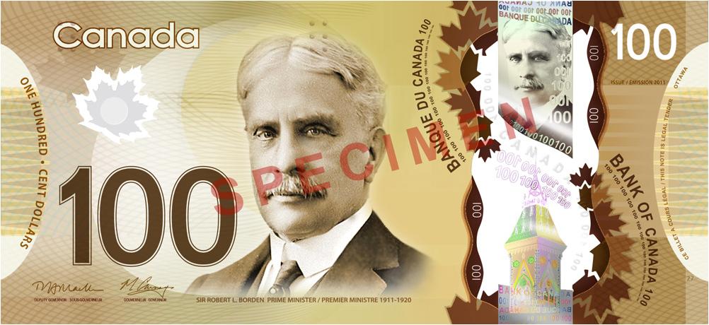 Canada's plastic $100 banknote