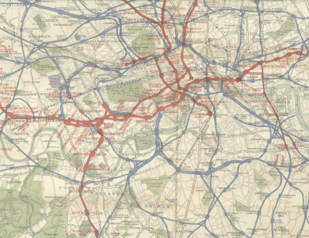 1895 London tube map