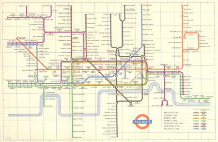 1956 London tube map