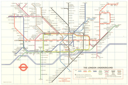 1974 London tube map