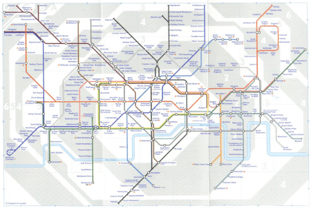 2002 London tube map
